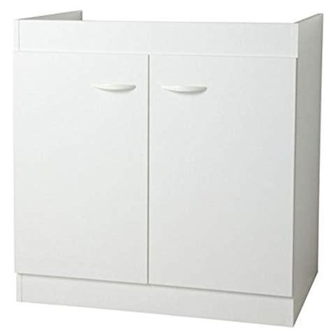 evier cuisine 80 cm sous évier 2 portes 80 cm quot simply quot blanc
