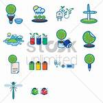 Vector Environmental Recycle Various Icons Stockunlimited Graphic
