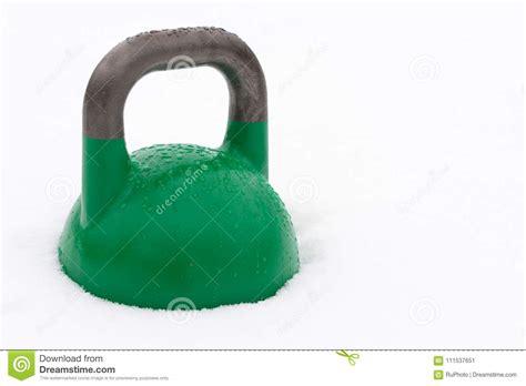 kettlebell snow weight training