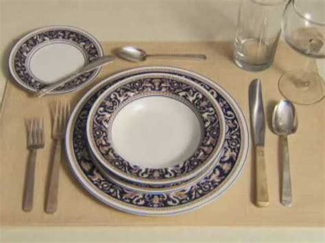 Setting A Formal Table Setting Youtube