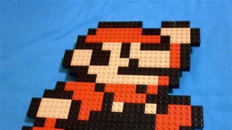 video game themed lego pixel art  meufer neatorama