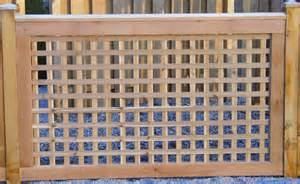 Wood Fence Square Lattice Panels