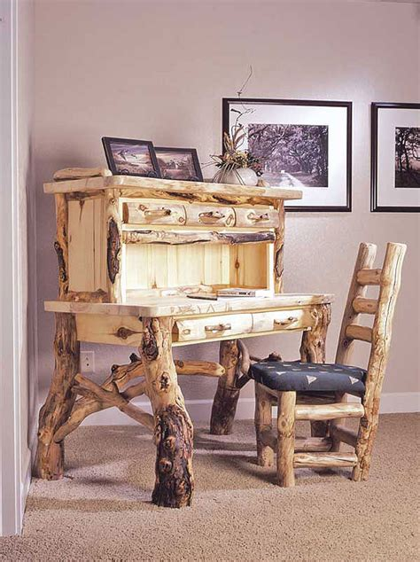 woodworking plans rustic ranch log furniture  plans