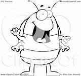 Pillbug Cartoon Bug Pill Drawing Waving Coloring Clipart Outlined Vector Thoman Cory Getdrawings sketch template