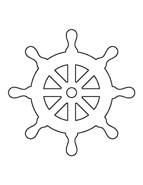 Boat Wheel Outline by Steering Wheel Pattern Use The Printable Outline For
