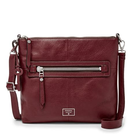Dawson Zip Patchwork Fossil dawson top zip crossbody fossil