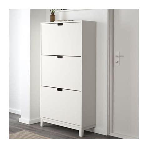 shoe cabinet st 196 ll shoe cabinet with 3 compartments white 79x148 cm ikea Ikea