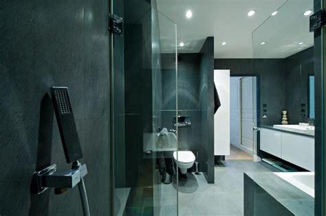 salle de bain en ardoise salle de bain idealbagni en ardoise et blanc cr 233 233 par l architecte d int 233 rieur s 233 verine kalensky
