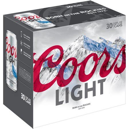 light 30 pack price coors light 30 12 fl oz cans walmart