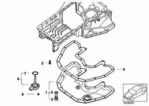 Original Parts For E67 745lis N62 Sedan    Engine   Oil Pan Bottom Part Oil Level Indicator