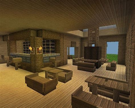 Living Room Ideas Minecraft by Wood Living Dining Room With Bar Area Minecraft