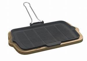 Gusseisen Pfanne Rechteckig : grill pfanne eckig 21 x 36cm mit klappbaren drahtgriffen und serviergestell ~ Markanthonyermac.com Haus und Dekorationen