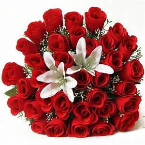 Bouquet Pas Cher : pas cher artificielle mari e bouquet bouquets de mariage soie rose fleurs de mari e fleurs ~ Melissatoandfro.com Idées de Décoration