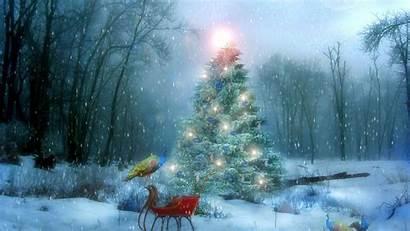 Snow Christmas Wallpapers Scenes Winter Scene Scenery