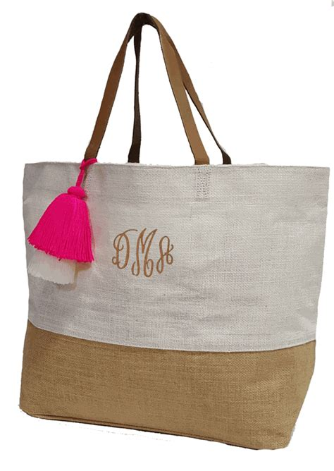 monogram summer beach bags