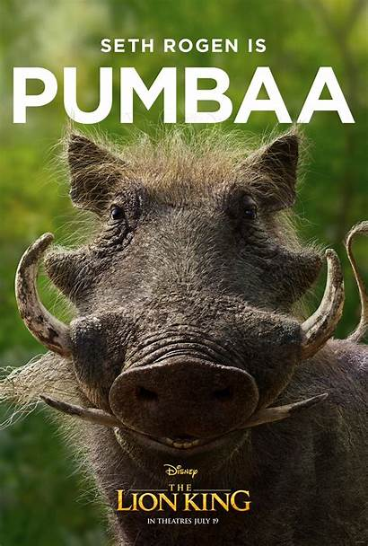 Lion King Character Pumbaa Poster Action Posters