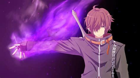 purple anime boy wallpapers