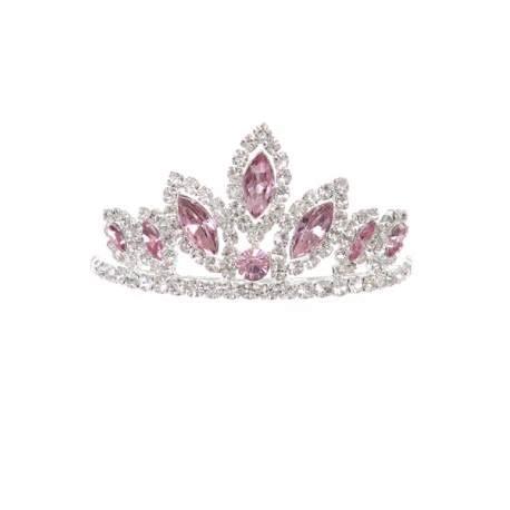 tiara crown pink hairpiece