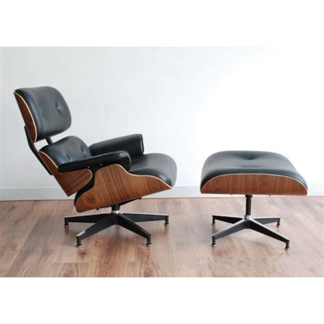 modern walnut frame italian leather eames lounge chair and