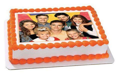 full house edible birthday cake  cupcake toppe edible