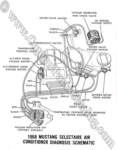 Ac Wiring Diagram 68 Mustang by Manual Vacuum Schematic W Headlight Schematic