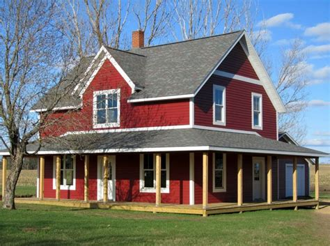 lp smartside siding trim color is cinnabar farmhouse