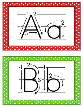 alphabet cards correct letter formation abc school