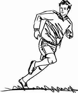 Sketch Of Soccer Player Kicking Ball. Vector Illustration ...