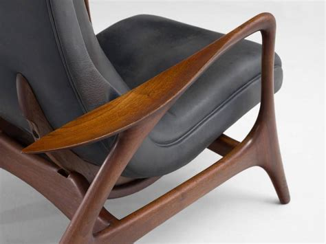 Vladimir Kagan Rare Lounge Chair In Charcoal Colored