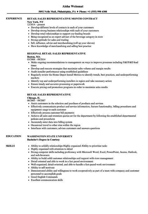10 sle resume of sales representative sle