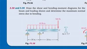 Problem 5 58  Draw The Shear And Bending