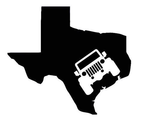 jeep vinyl decals jeep texas vinyl decal sticker
