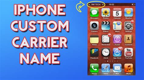 how to change carrier name on iphone without jailbreak how to change your iphone carrier name