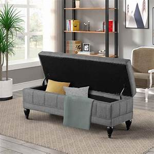 Storage, Chest, Footrest, With, Seat, Ottoman, With, Hideable, Storage, Clamshell, Footstool, With