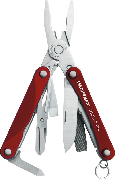leatherman squirt ps keychain mini multi tool red