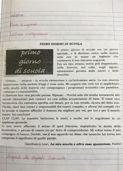 prove d ingresso classe quinta italiano prove d ingresso classe quinta di maestra mile