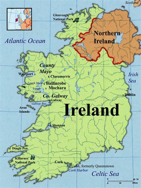 ireland map  travelquazcom
