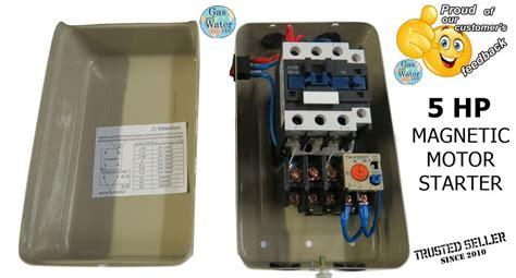 magnetic motor starter 5 hp single phase 220 240v 24 34a switch 662425062461 ebay