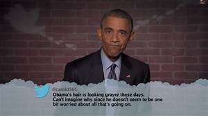 Obama reads mean tweets on Jimmy Kimmel Live (VIDEO).