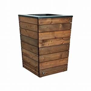 Bac En Bois Pour Plantes : pot en bois exterieur conceptions de maison ~ Dailycaller-alerts.com Idées de Décoration