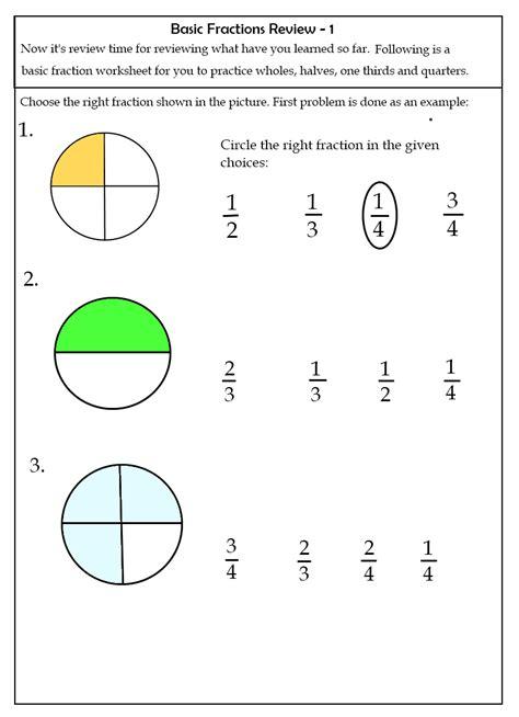 worksheets grade two fraction worksheets 7 2nd grade