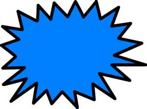 Blue Sunburst Clip Art