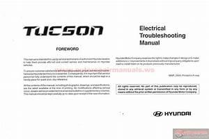 Hyundai Tucson 2004 Electrical Troubleshooting Manual