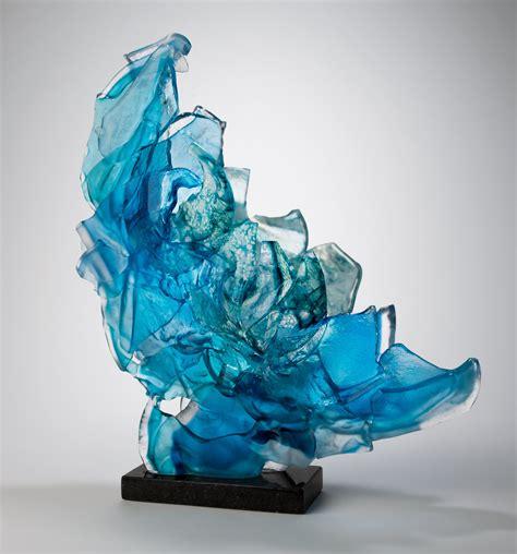 blue brimstone  caleb nichols art glass sculpture