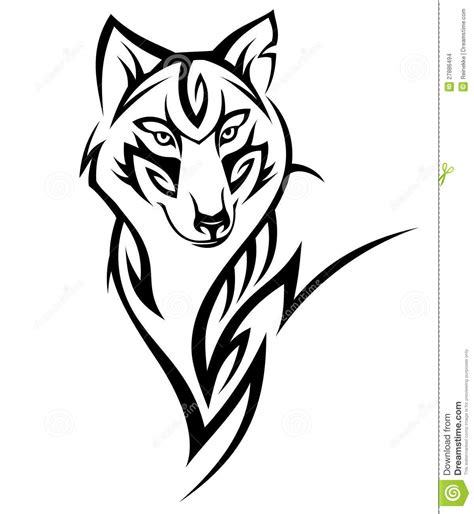 wolf tattoo stock images image