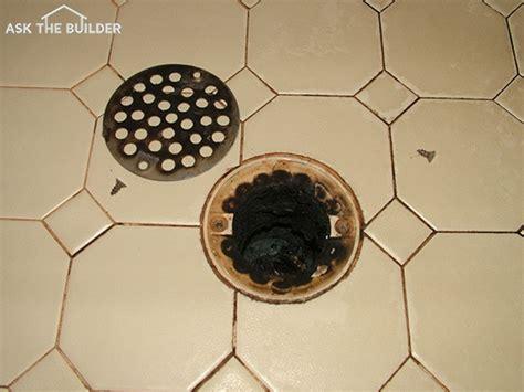 shower drain odor