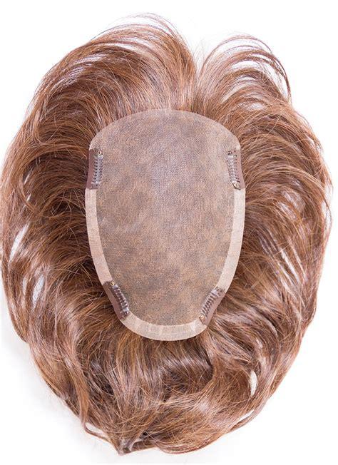 straight brown  human hair mono hair pieces