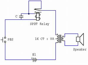 Simple Novel Buzzer Circuit Diagram