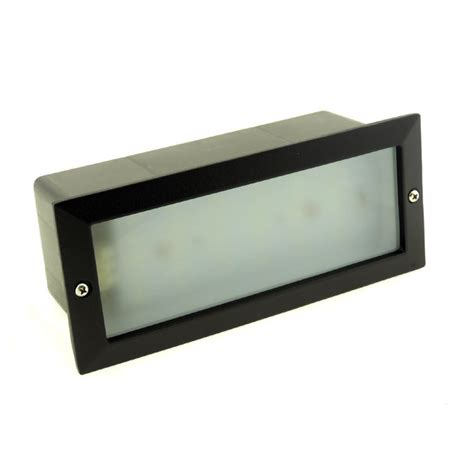 modern white led outdoor garden recessed brick wall light bright ip54