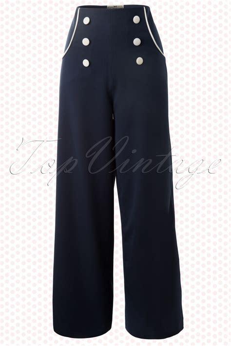bernadette sailor trousers navy
